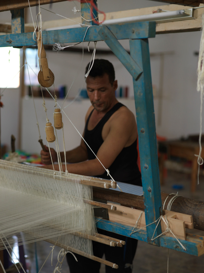 Handwoven in Tunisia