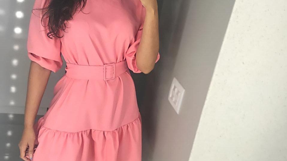 Vestido Poli com cinto