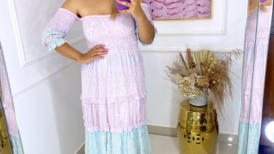 Vestido Candy Color Poly