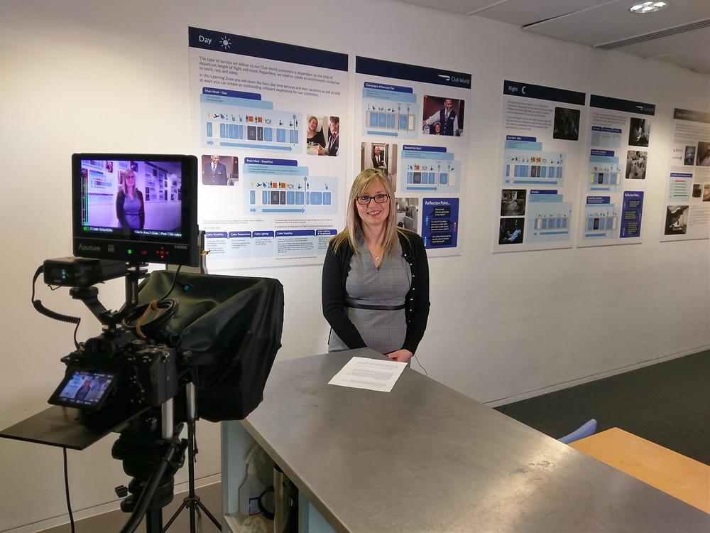 Video production setup British Airways