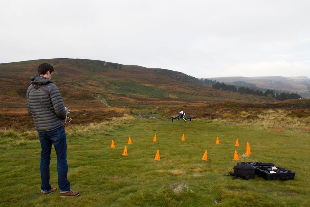 Drone operator ilkley moor