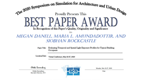 research by Oculight co-founders awarded Best Paper Award at SimAUD 2020