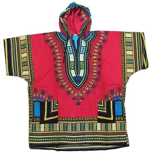 Traditional Print Hooded Dashiki