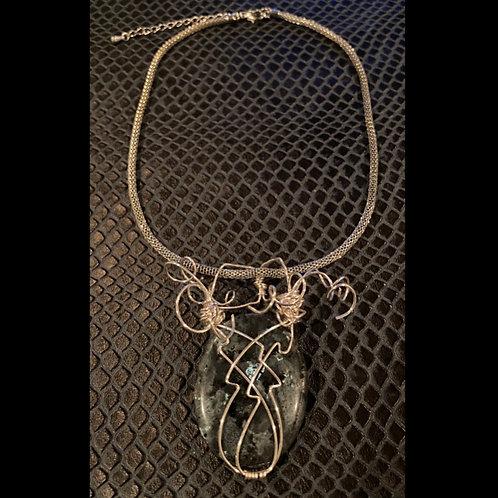Labradorite Mesh Necklace