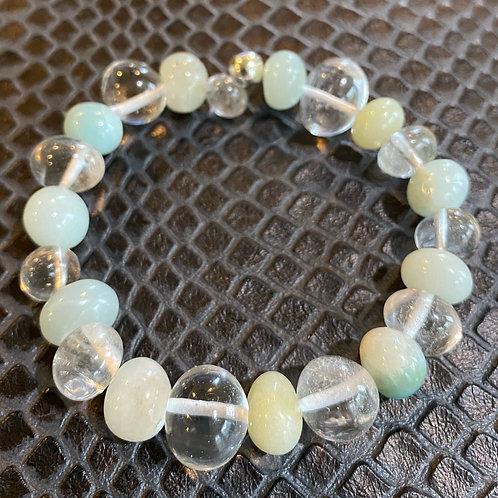 Amazonite & Clear Quartz Nugget Healing Bracelet