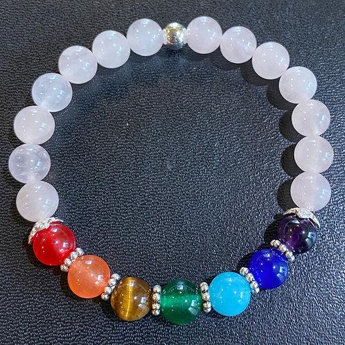 Rose Quartz Chakra Healing Bracelet