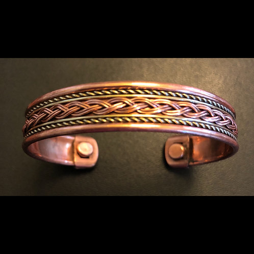 Tibetan Copper Magnetic Bangle Bracelet