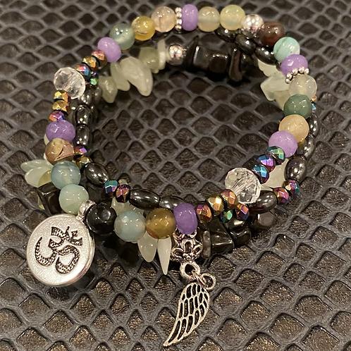 Multi-Stone Healing Bracelet Set