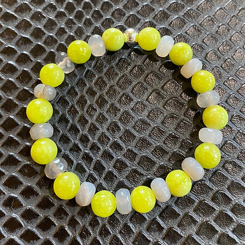 Lime Jade & Agate Healing Bracelet