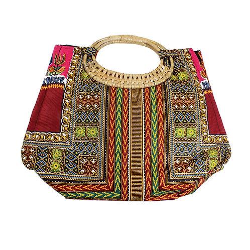 Burgandy Tribal Print Bag