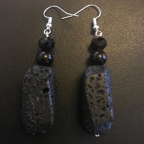 Lava Stone Earrings
