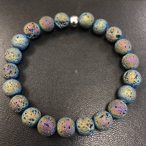 Iridescent Lava Stone Healing Bracelet