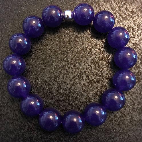 12mm Purple Jade Healing Bracelet