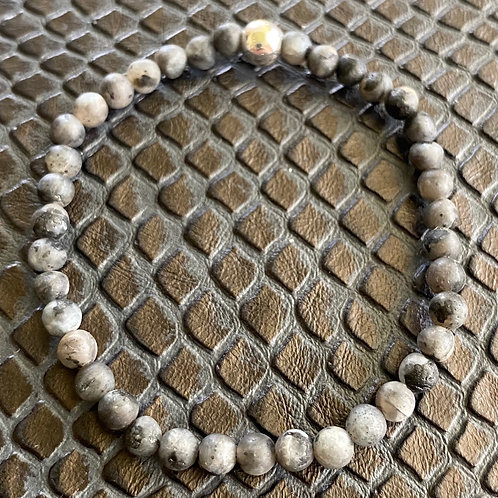 4mm Matte Labradorite Healing Bracelet