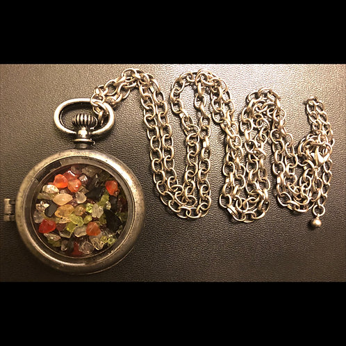 Multi-Stone Locket Necklace