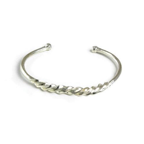 Fulani Silver Twist Bracelet
