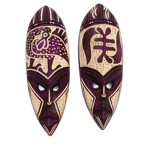Purple Ghana Fang Mask Set