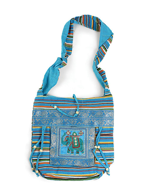 Light Blue Royal Elephant Bag