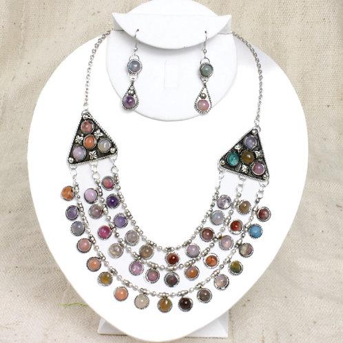 Agate Gemstone Necklace Set