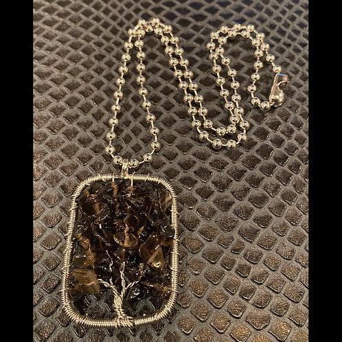 Smokey Quartz Tree Necklace