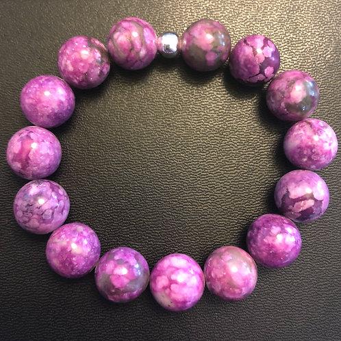 12mm Purple Jasper Healing Bracelet