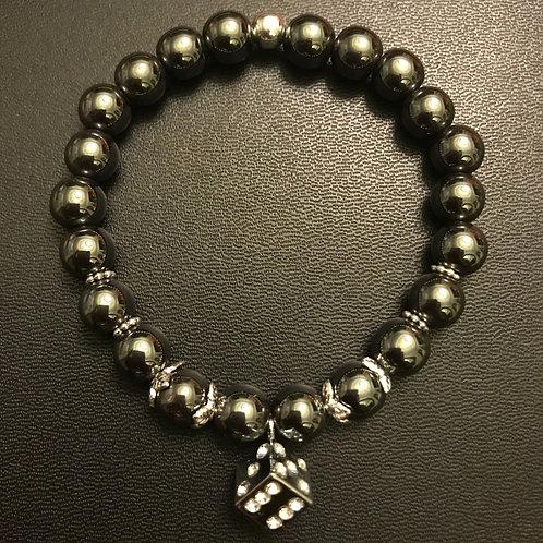 Hematite Dice Energy Healing Bracelet