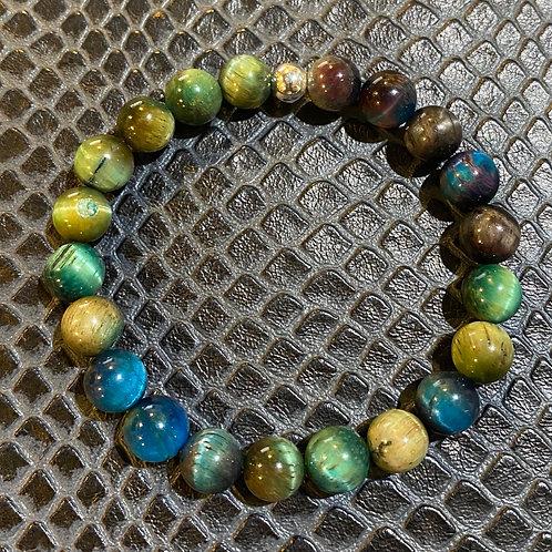 Green Blue Tiger Eye Healing Bracelet
