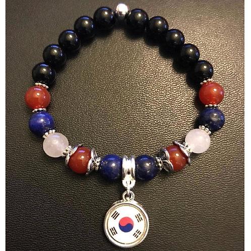 South Korean Flag Charm Bracelet