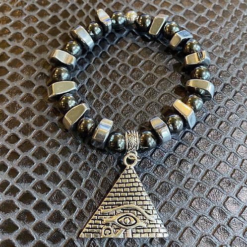 Hematite Pyramid Healing Bracelet