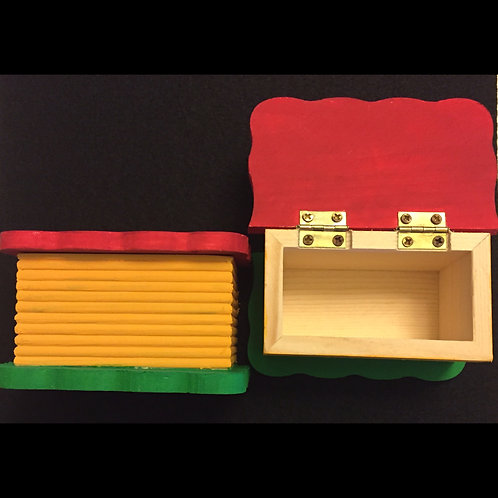 Red, Yellow, and Green Keepsake Box