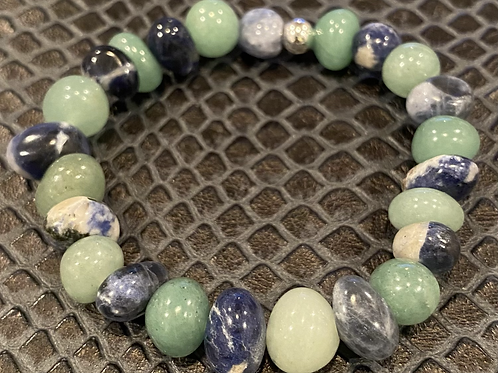 Aventurine & Sodalite Nugget Healing Bracelet