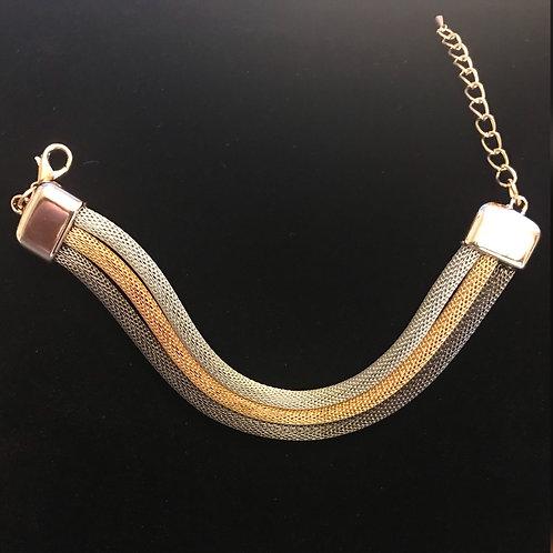 3 Tone Mesh Bracelet