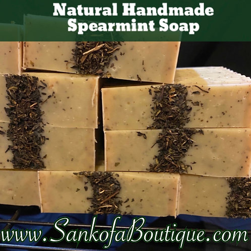 Natural Handmade Spearmint Soap