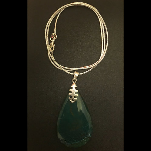 Green Dragon Veins Agate Necklace