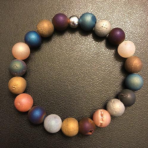 Crystalized Agate Healing Bracelet
