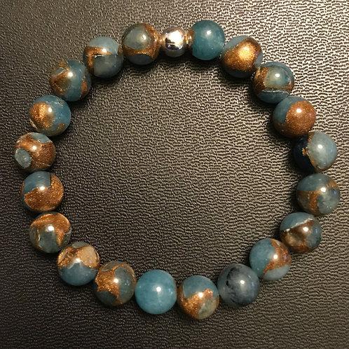 Blue Goldstone Healing Bracelet