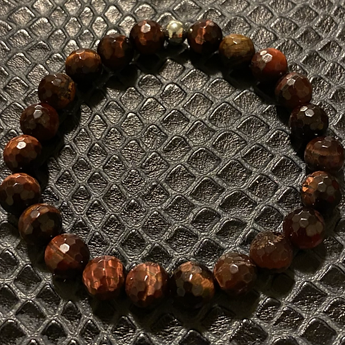 Faceted Red Tiger Eye