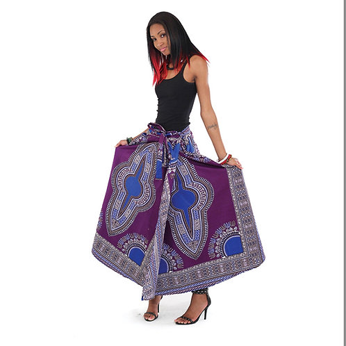 Purple Traditional Wrap Skirt