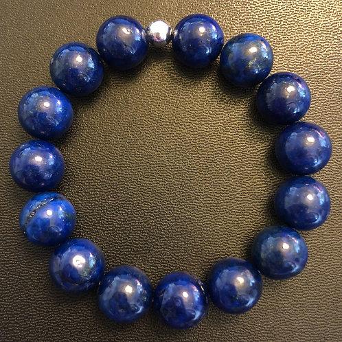 12mm Lapis Lazuli Healing Bracelet