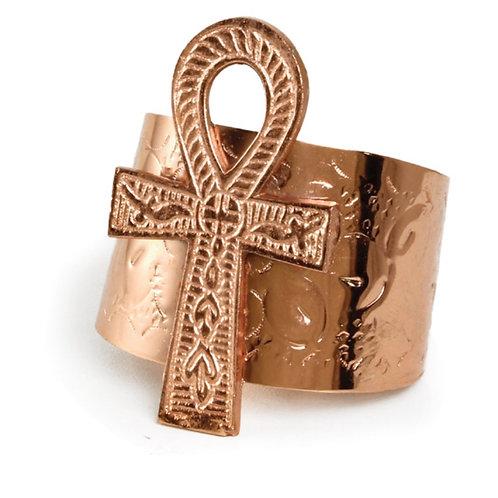 Copper Ankh Cuff Bracelet