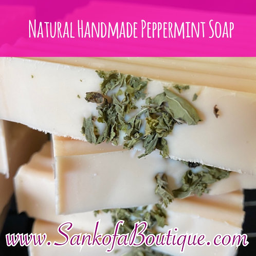 Natural Handmade Peppermint Soap