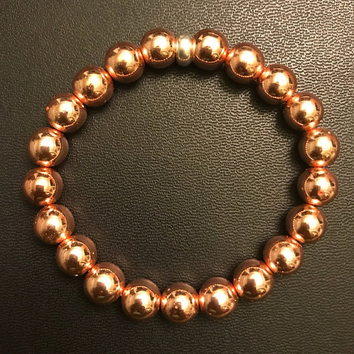 Rose Gold Hematite Healing Bracelet