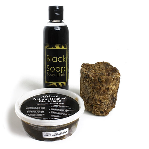 Natural Black Soap Set