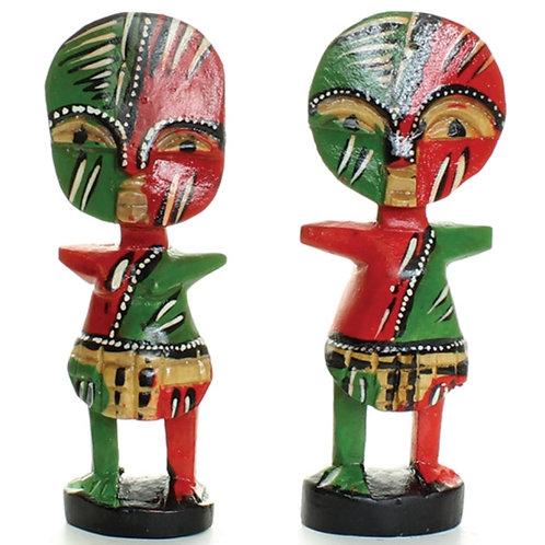 Painted Ashanti Fertility Dolls
