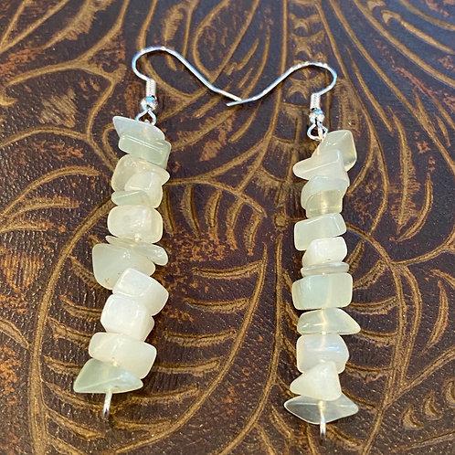 Lime Jade Chip Earrings