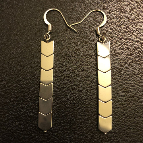 Hematite Arrow Earrings