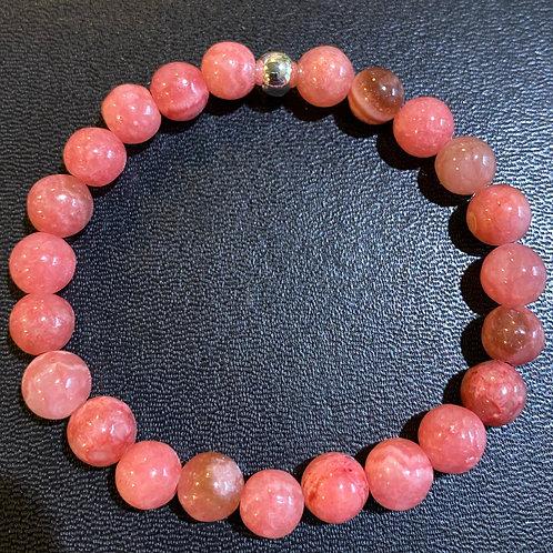 Pink Rhodochrosite Healing Bracelet