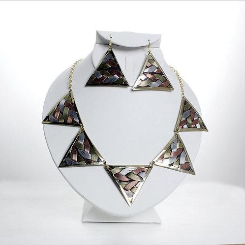 Triangle Fusion Necklace Set