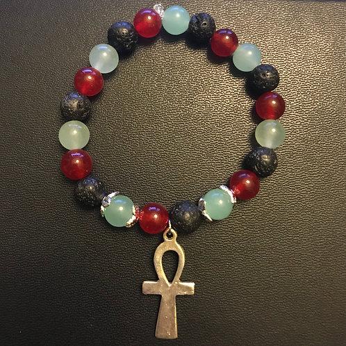 RBG Ankh Natural Healing Bracelet