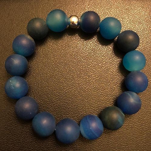 10mm Blue Agate Healing Bracelet